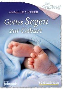 Ein Grußbrief - Gottes Segen zur Geburt - 5 Stück