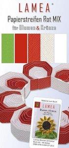 LAMEA Papierstreifen Rot Mix