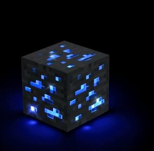 Minecraft - Light-Up Diamond Ore (Blau)