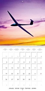 The thrill of gliders (Wall Calendar 2015 300 × 300 mm Square)