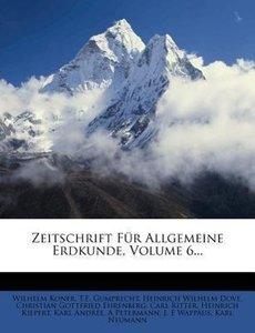 Zeitschrift für allgemeine Erdkunde.