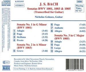 Sonaten BWV 1001,1003,1005