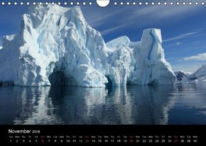 Antarctica (UK - Version) (Wall Calendar 2016 DIN A4 Landscape)