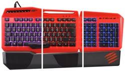 S.T.R.I.K.E. 3 Gaming-Keyboard, Spieletastatur, rot - zum Schließen ins Bild klicken