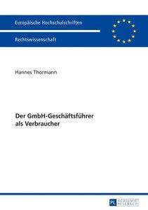 Der GmbH-Geschäftsführer als Verbraucher