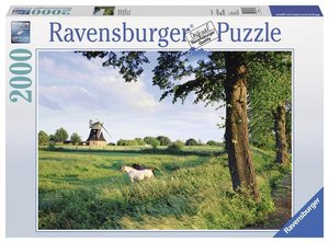 Pferde vor Windmühle. Puzzle 2000 Teile