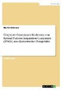 Corporate Governance-Strukturen von Special Purpose Acquisition