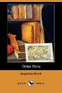 Obiter Dicta (Dodo Press)