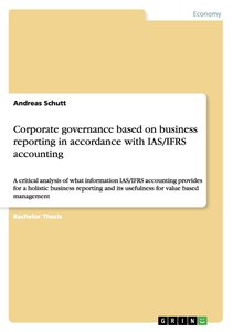 Corporate governance based on business reporting in accordance w