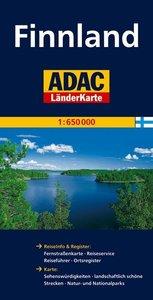 ADAC LänderKarte Finnland 1 : 650 000