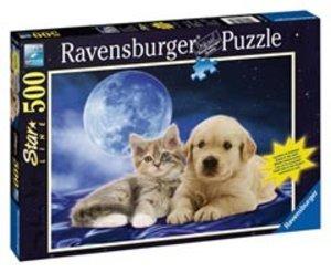 Ravensburger 14862 - Goldige Freunde, 500 Teile Puzzle