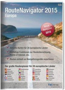 RouteNavigator Europa 2015 - für 28 europäische Länder
