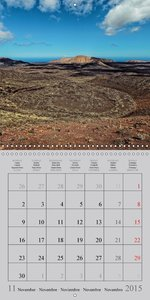 LANZAROTE Created by Volcanoes (Wall Calendar 2015 300 × 300 mm