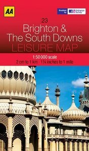 Leisure Map WK 23 Brighton & S. Downs 1 : 50 000