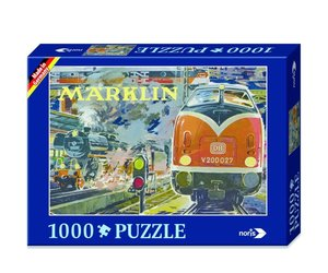 Märklin Nostalgie 1000tlg. Puzzle Bahnhof