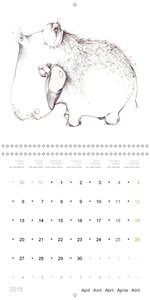 Animalistic! - illustrations by Ronit Wolf (Wall Calendar 2015 3