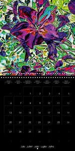Colorful Flowers (Wall Calendar 2015 300 × 300 mm Square)