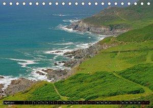 Cornwall und Wales (Tischkalender 2017 DIN A5 quer)