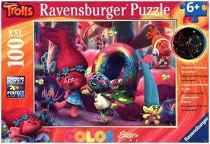Ravensburger 13679 - Trolls, Leuchtende Haarpracht, Puzzle 100 T
