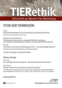 TIERETHIK 2016/1 - HEFT 12: ETHIK DER TIERMEDIZIN