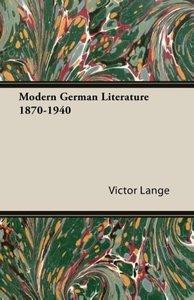 Modern German Literature 1870-1940