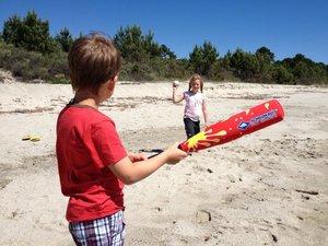 Schildkröt 970120 - Funsports Baseball Set Soft-Schläger, Rot, 6