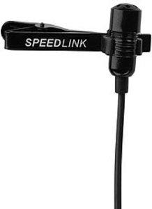 Speedlink SL-8691-SBK-01 SPES Clip-On Ansteck-Mikrofon, schwarz