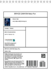 Viola, M: BRYCE CANYON Natur Pur (Tischkalender 2015 DIN A5