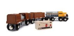 Brio 33567 - Diesellok mit 2 Güterwagen, Magnetladung
