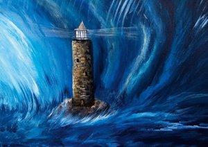 Auf der Suche nach der Insel - Gemälde in Acryl