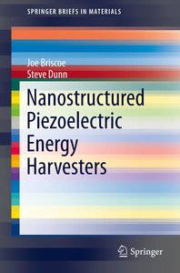Nanostructured Piezoelectric Energy Harvesters