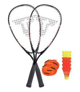 Talbot Torro 490107 - Speed Badminton Set 7000, im Slingbag, Bla