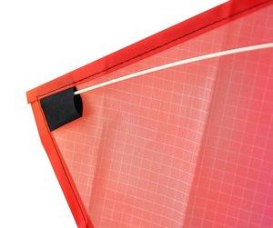 Invento 102102 - Eddy Rainbow, Drachen mit Schwanz, 50 cm