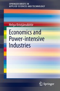 Business and Economic Perspectives of the Power Intensive Indust