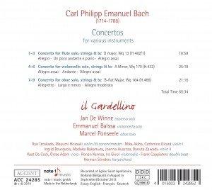 Konzerte Wq 13(H. 482/1) / Wq 170 (H. 432) / Wq 164 (H. 466)