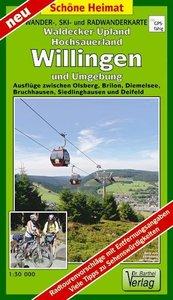 Wander-, Ski- und Radwanderkarte Waldecker Upland, Hochsauerland