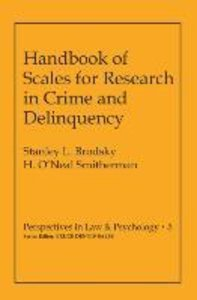 Handbook of Scales for Research in Crime and Delinquency
