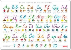 Fragenbär-Mini-Lernposter: Schulausgangsschrift SAS + Vereinfach