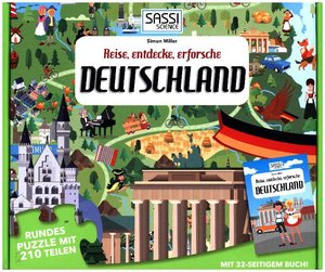 Puzzle Bodenpuzzle Deutschland 205 Teile inklusive Begleitbuch