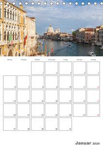 Attraktionen in Venedig / Terminplaner (Tischkalender 2020 DIN A