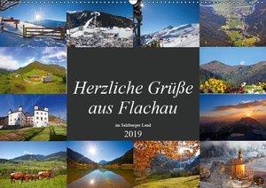 Herzliche Grüße aus Flachau (Wandkalender 2019 DIN A2 quer)