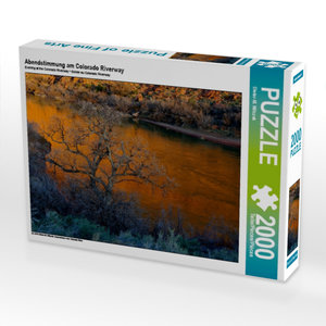 Abendstimmung am Colorado Riverway 2000 Teile Puzzle quer