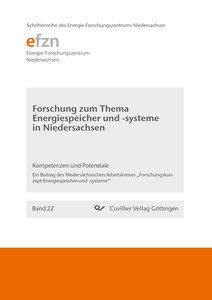 Forschung zum Thema Energiespeicher und -systeme in Niedersachse