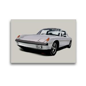 Premium Textil-Leinwand 45 cm x 30 cm quer Porsche 914