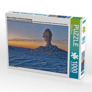 Weisse Wüste im Sonnenuntergang 1000 Teile Puzzle quer
