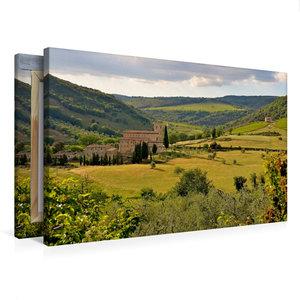 Premium Textil-Leinwand 75 cm x 50 cm quer Kloster Sant Antimo ?