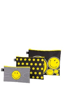 Zip Pocket Set SMILEY / Spiral, Dots, Spots