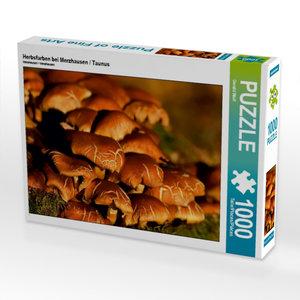 Herbsfarben bei Merzhausen / Taunus 1000 Teile Puzzle quer