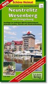 Neustrelitz, Wesenberg und Umgebung 1 : 50 000 Radwander- und Wa