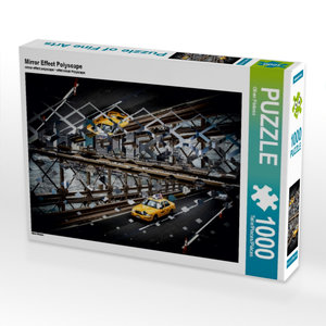 Mirror Effect Polyscape 1000 Teile Puzzle quer